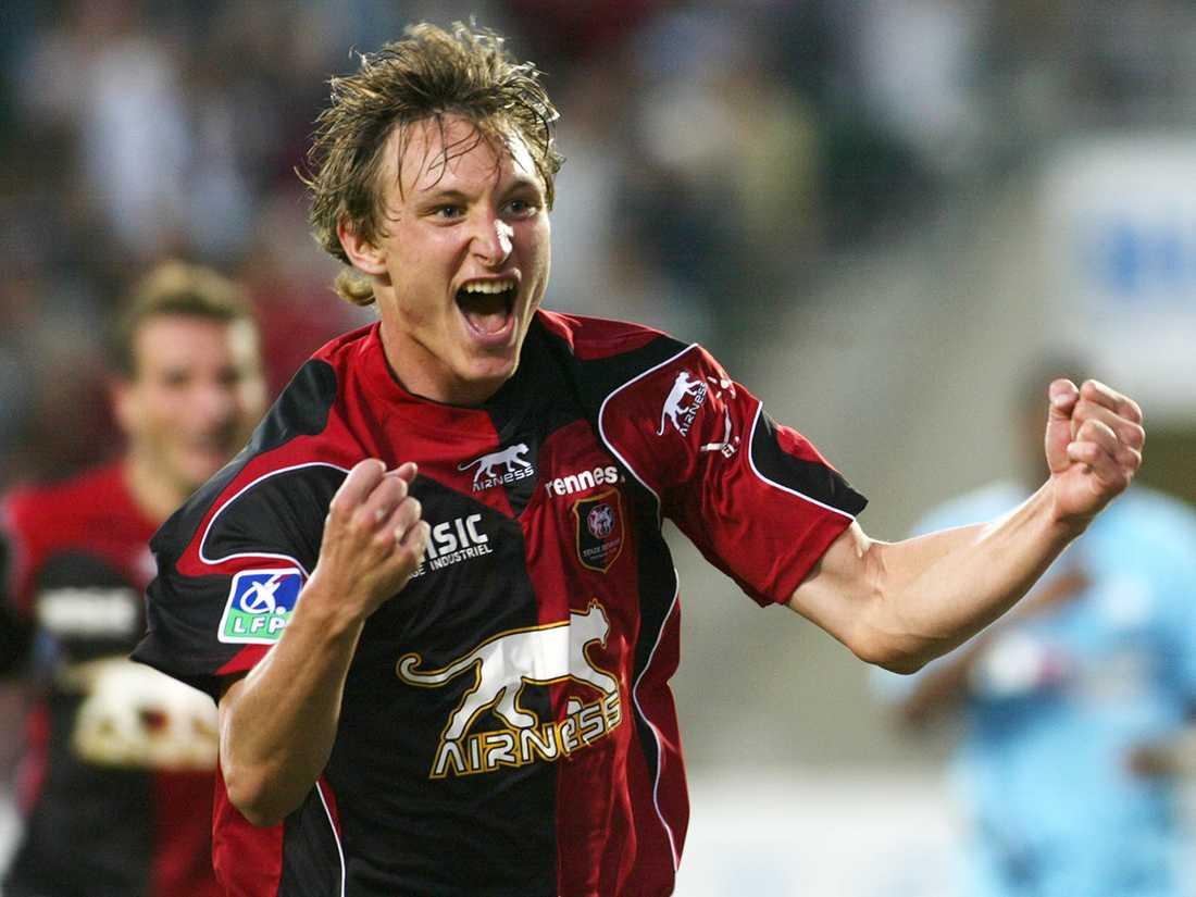 Succén i Djurgården följdes upp med flera säsonger i Rennes för Källström. Foto: Franck Prevel/AP.