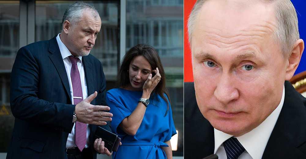 Yuri Ganus och Margarita Pakhnotskaya, från RUSADA, och Vladimir Putin.