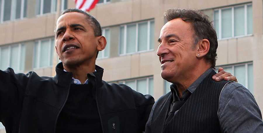 "Barack Obama och Bruce Springsteen gör podden ""Renegades: Born in the USA"" tillsammans."