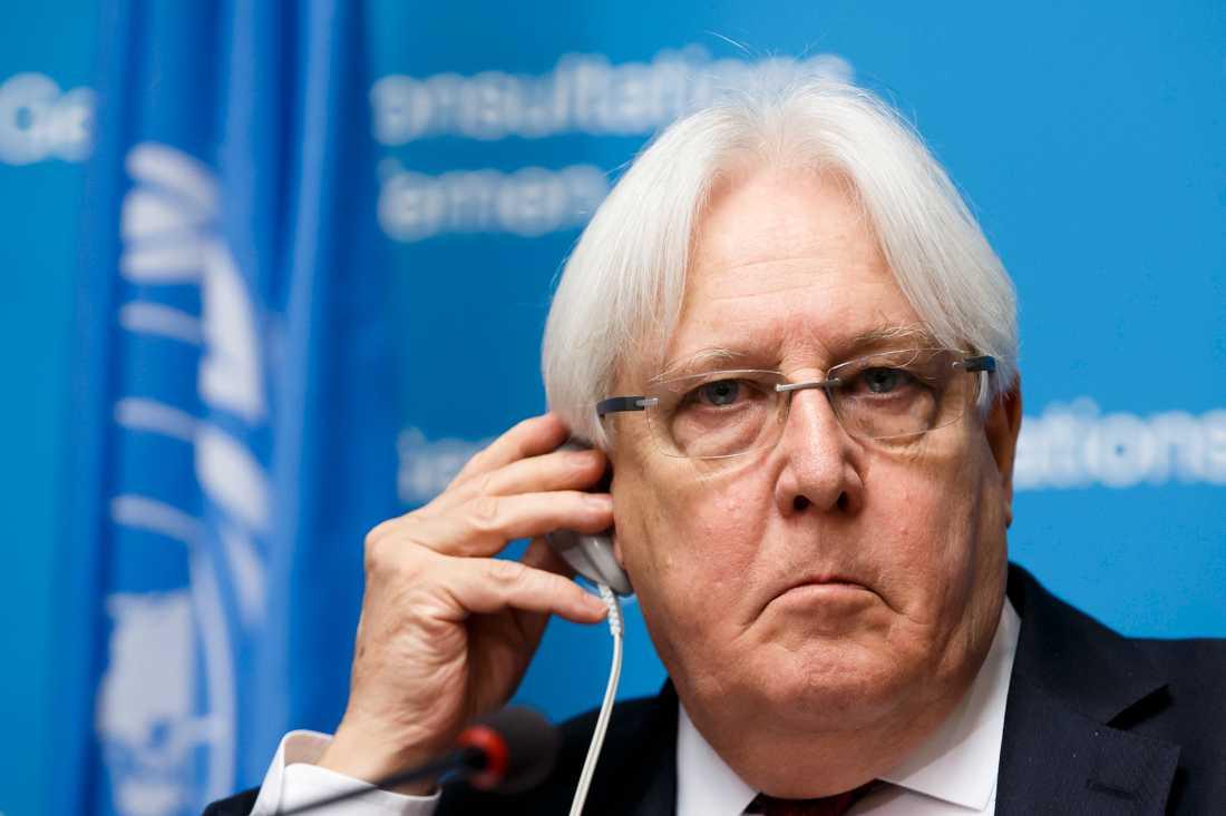 FN:s särskilde Jemensändebud Martin Griffiths.
