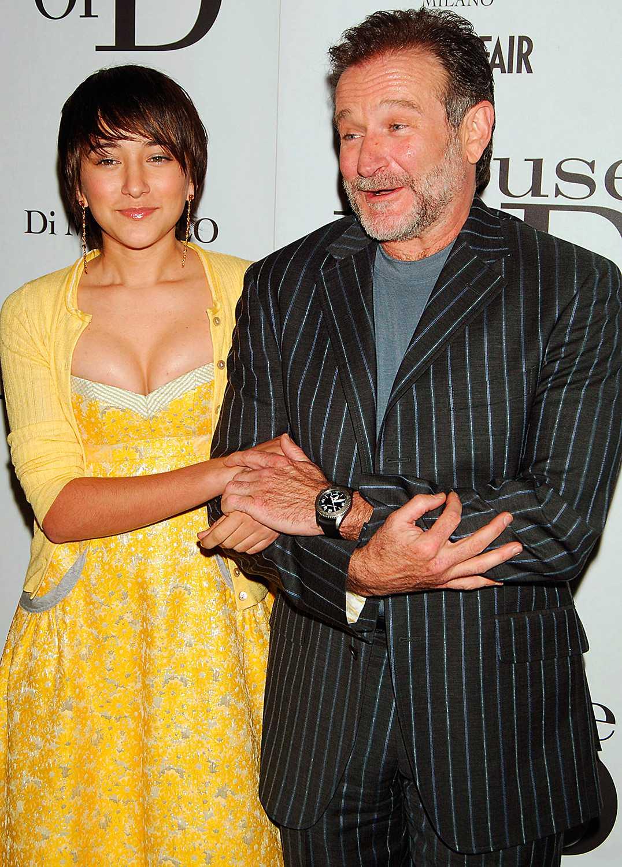 Robin Williams med dottern Zelda Rae.