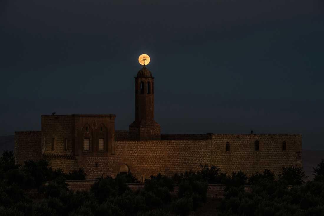 Blodmånen i turkiska Mardin.