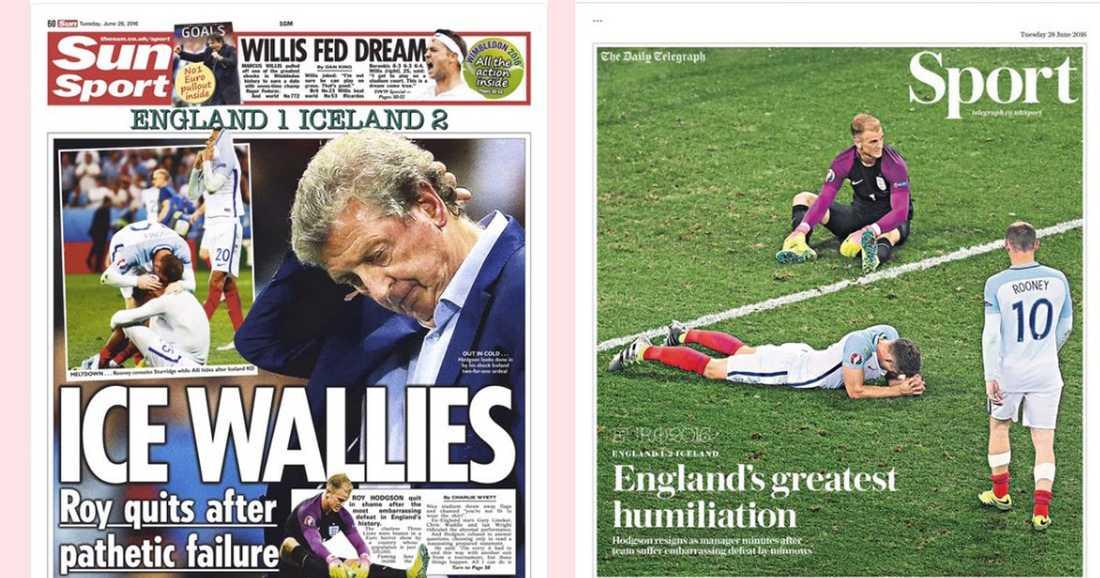 Sportettan på The Sun och The Daily Telegraph.