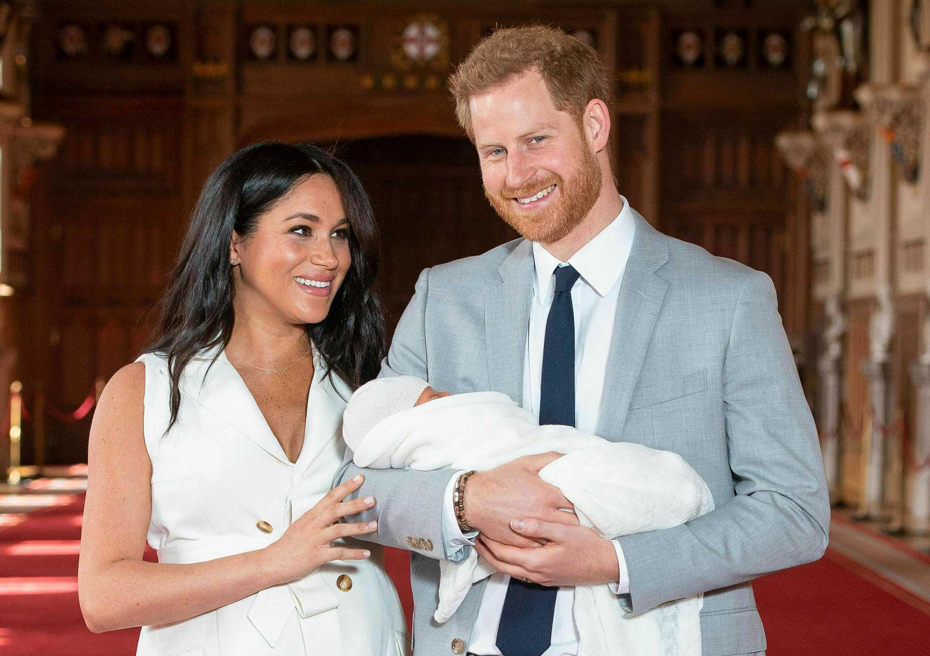 Meghan Markle, Prins Harry och Archie.