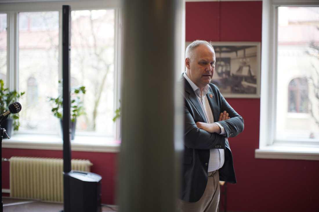 Jonas Sjöstedt var frän i sin kritik mot Stefan Löfven på 1 maj.