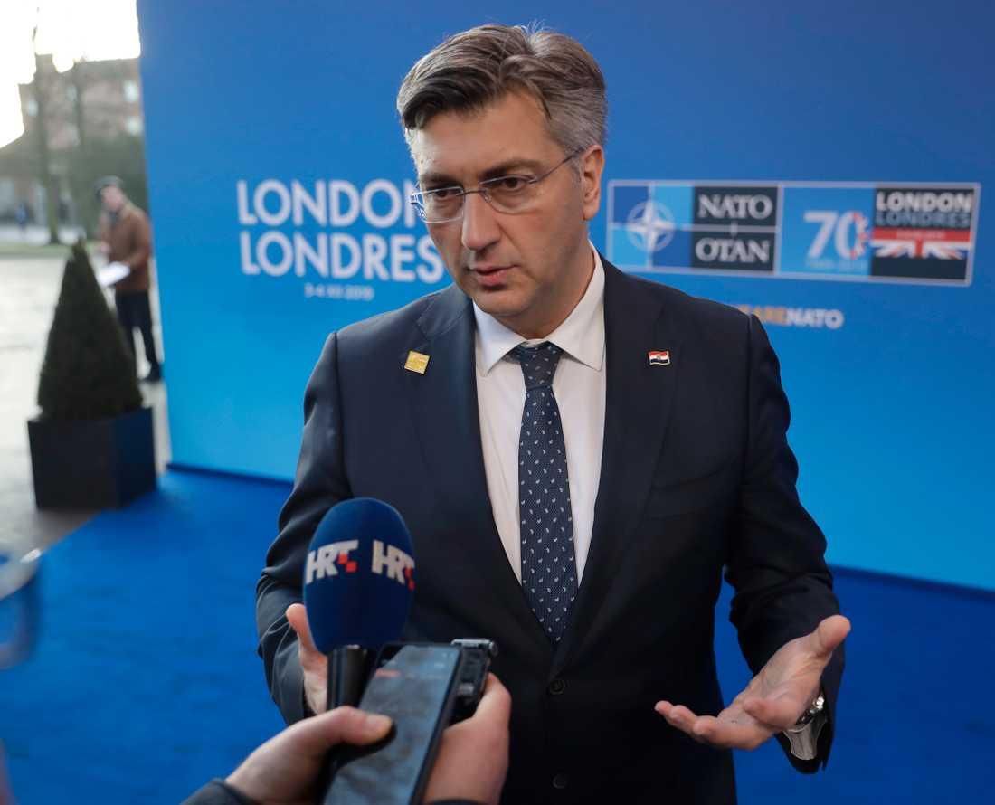Kroatiens konservative premiärminister Andrej Plenkovic.