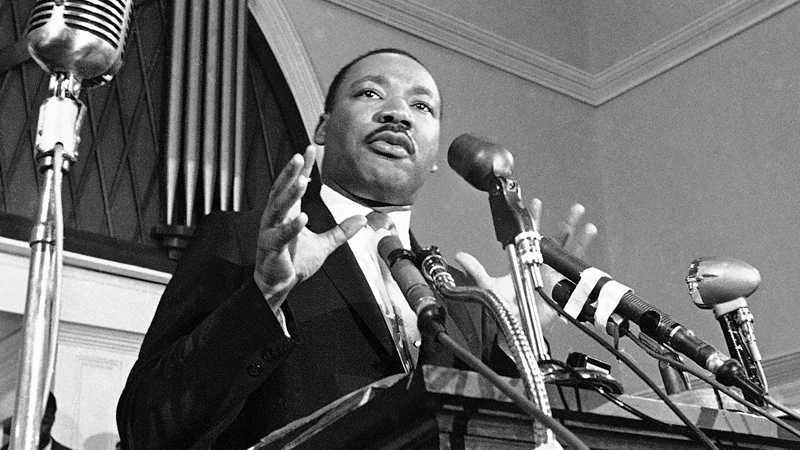 1964 fick Martin Luther King, USA, fredspriset för sitt kampanjarbete för medborgerliga rättigheter.