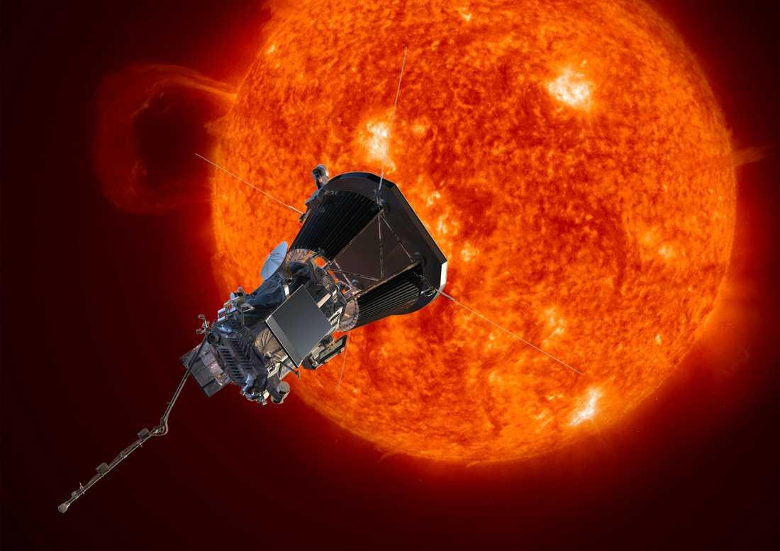 Nasas illustration av sonden som färdas mot solen.