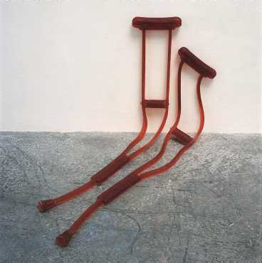 """Untitled (crutches)"", 1991-2001."
