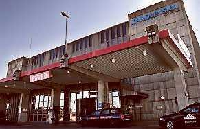 Misstaget skedde här på Karolinska i Huddinge.