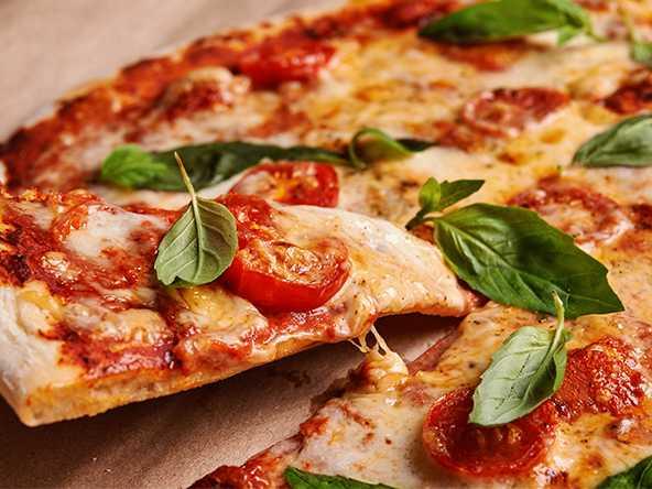 Pizza med västerbottenost.