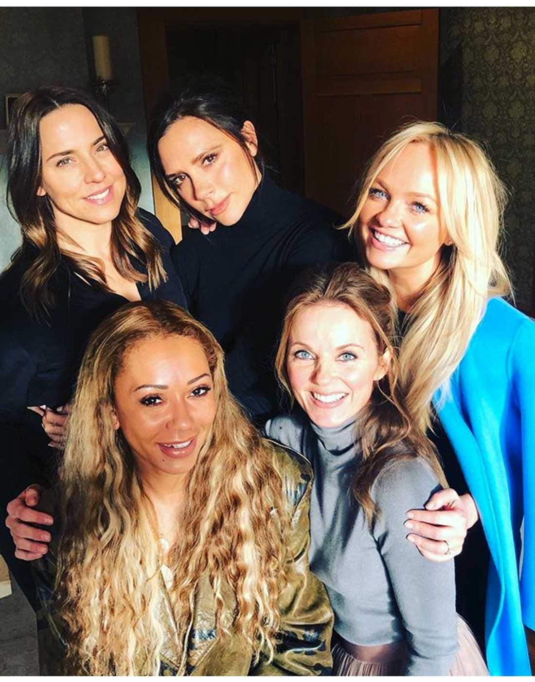 Mel C med Spice Girls-kollegorna 2018.