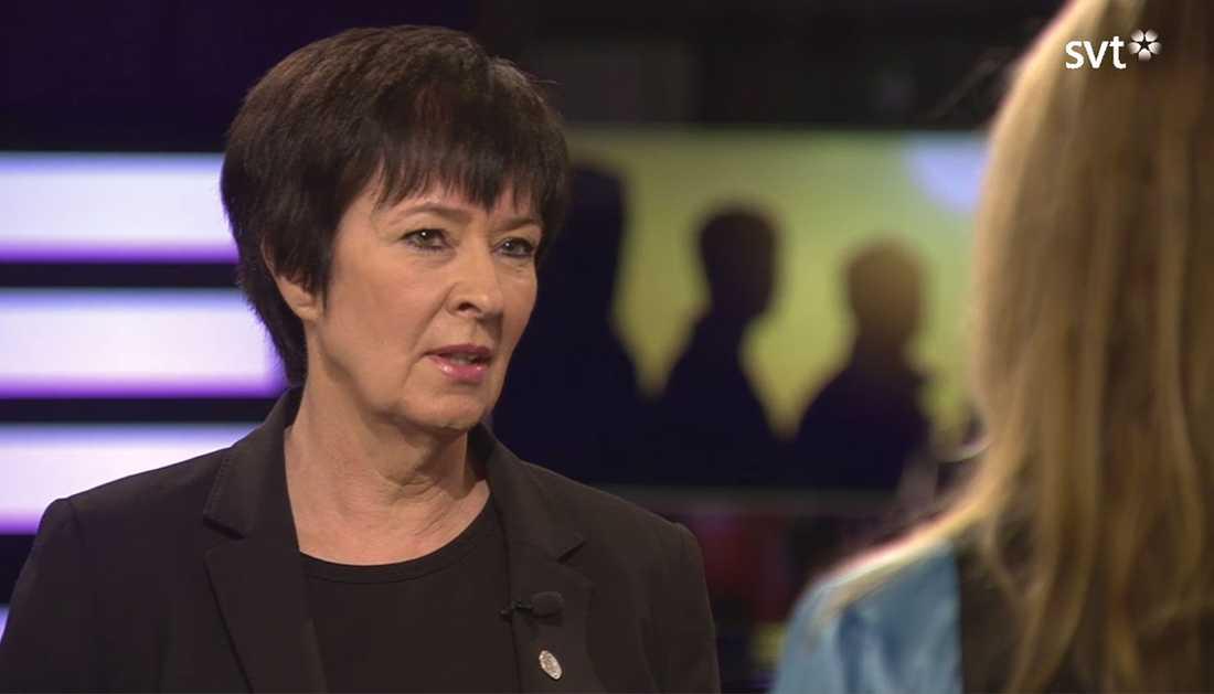 Mona Sahlin i SVT:s Agenda.