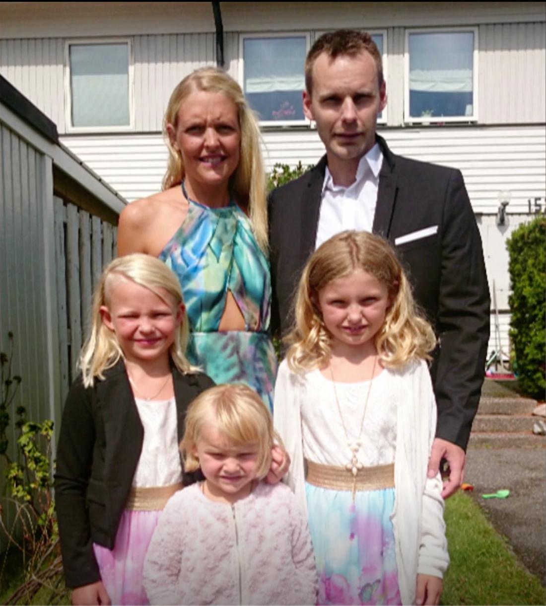 Peter och resten av familjen.