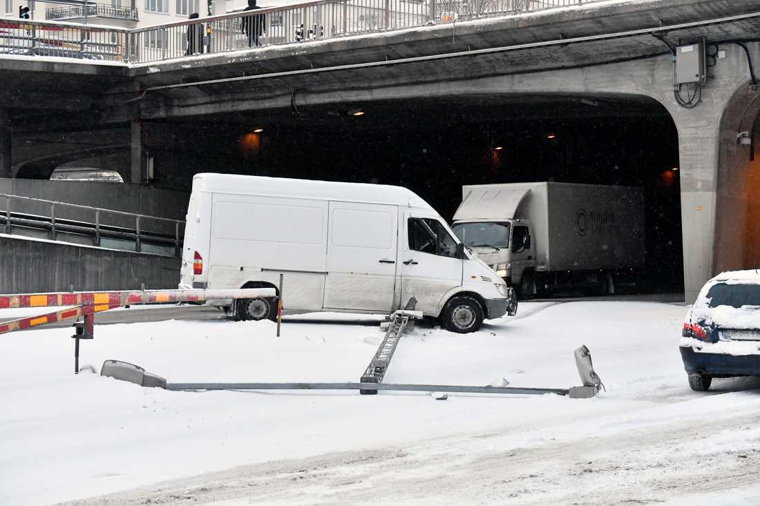 Olycka vid Blekholmstunneln.