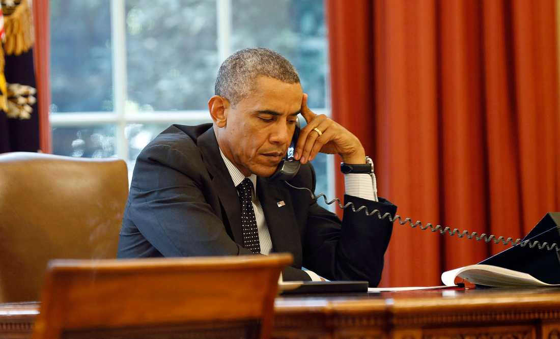 Obama i telefon om IS framfart.