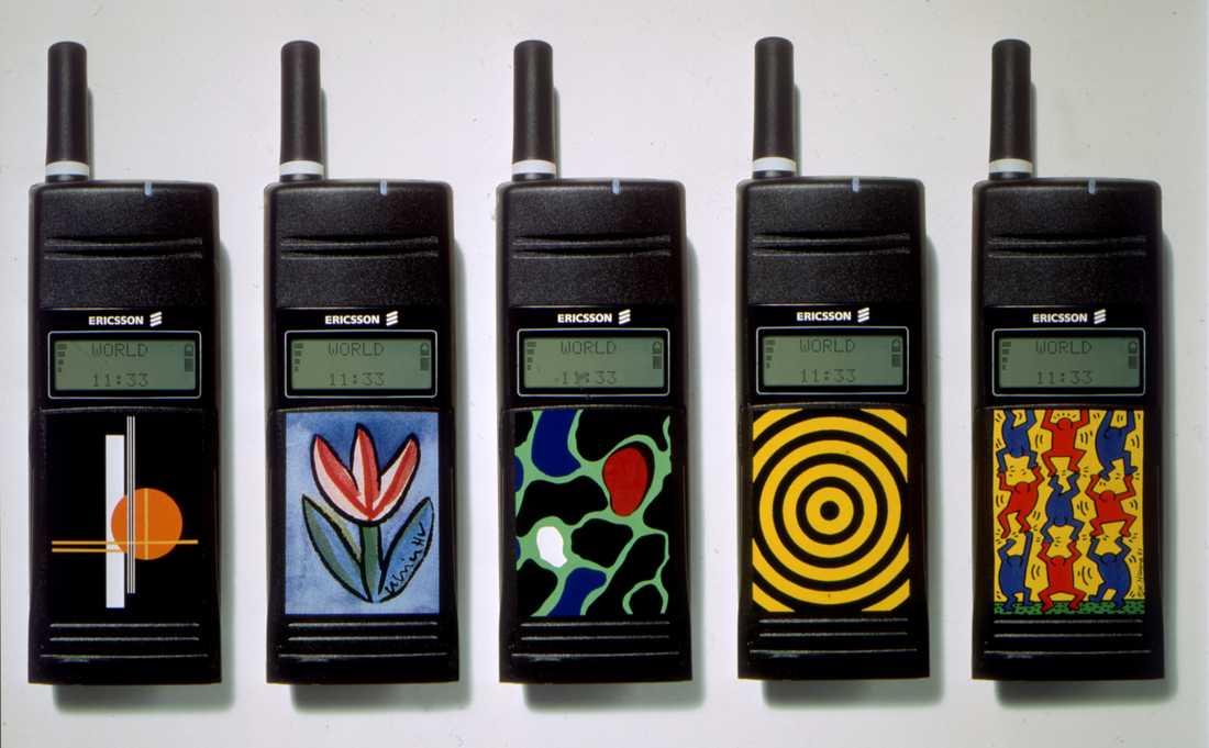 Pimpade Ericssonmobiler från 1995.