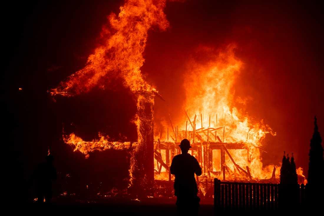 En jättebrand härjar i norra Kalifornien.
