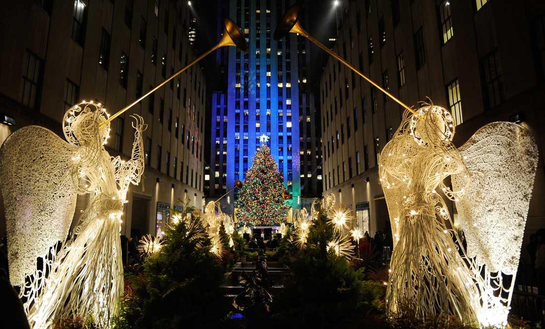 Jul-glitter på Rockefeller Center, New York.