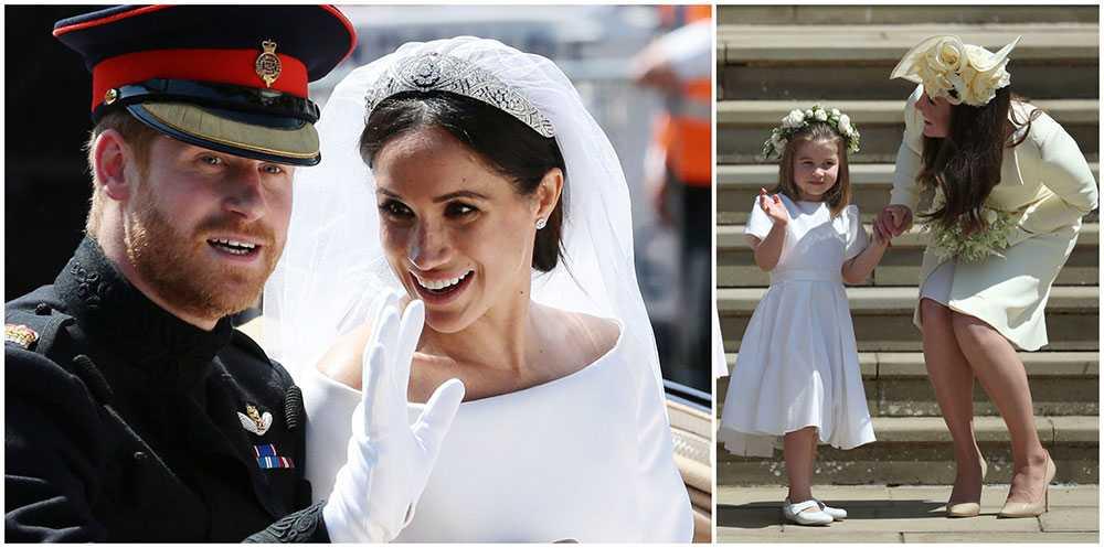 Kates dotter prinsessan Charlotte var en del av Meghan och Harrys brudnäbb. Kate försökte övertala Meghan att låta barnen bära tunna strumpbyxor i kyrkan för att följa den kungliga etiketten.