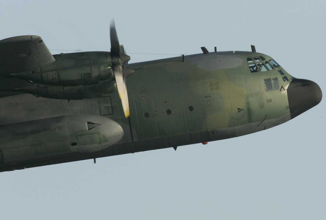 Arkivbild på ett Hercules C-130.
