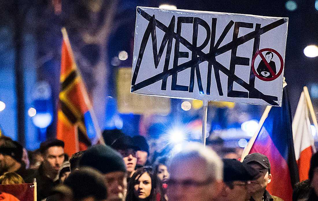 Tyska populistpartiet AFD  demonstrerar.
