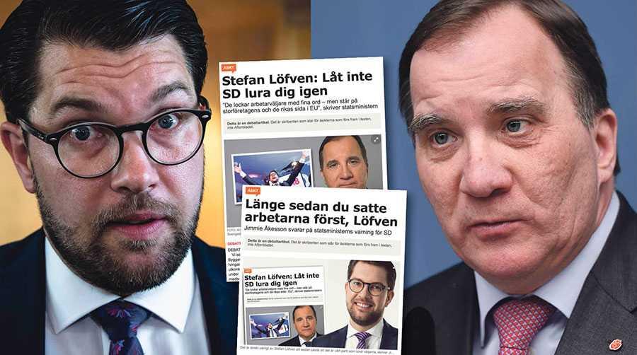 Jimmie Åkessons svar på min debattartikel är inget annat än en bekräftelse. SD står inte på löntagarnas sida. Det är bra att det nu klargjorts innan vallokalerna stänger, skriver Stefan Löfven.