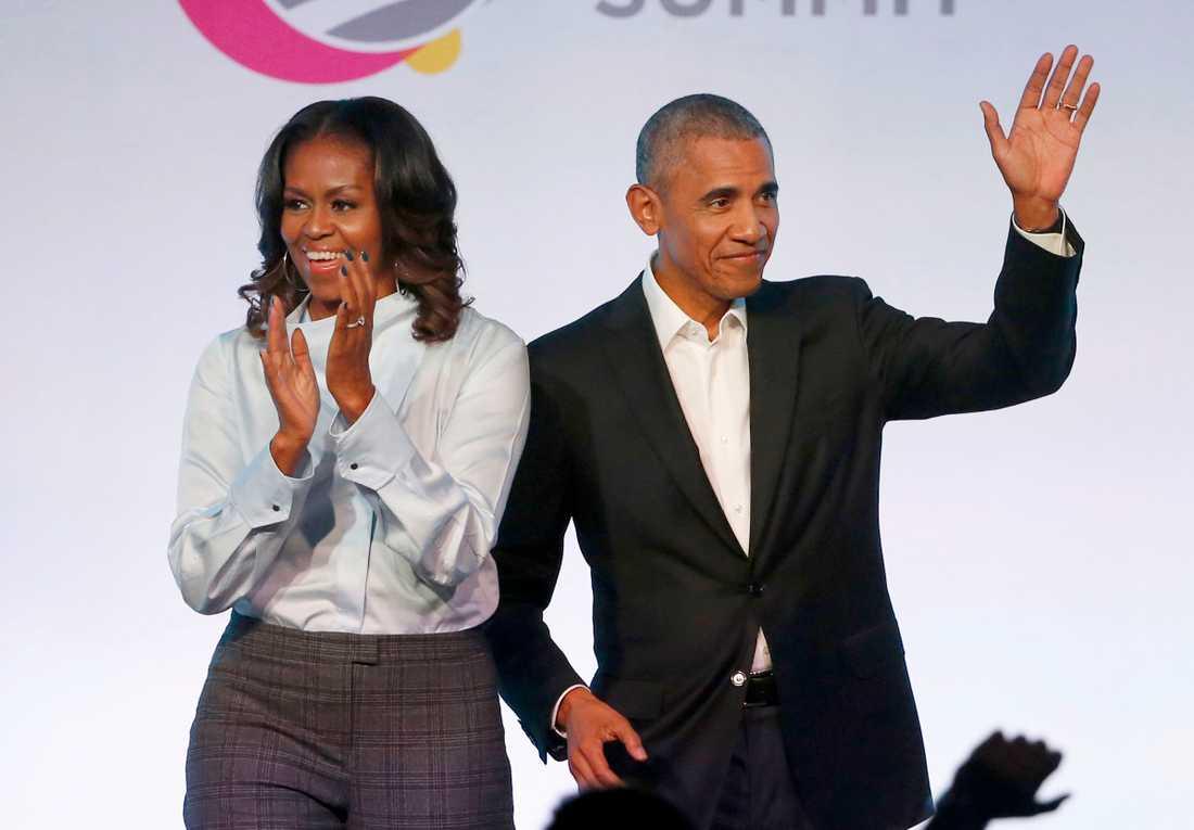 Paret Obama har slutit ett avtal med Spotify. Arkivbild.