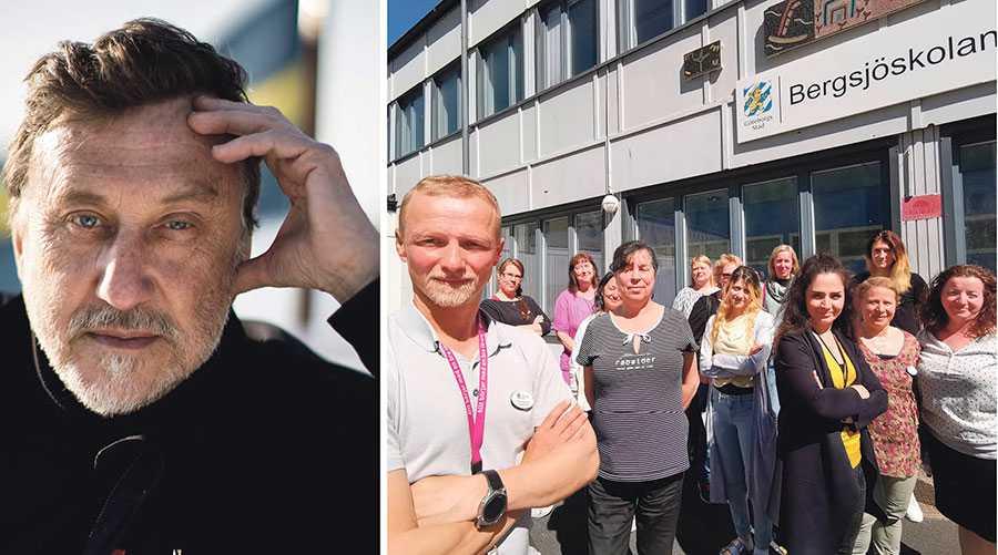 Janne Josefsson ger en skev bild av förorten, skriver Linus Johansson, här med sina lärarkollegor på Bergsjöskolan.