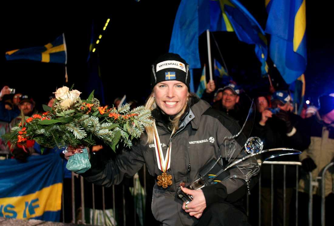 Emelie Öhrstig tog VM-guld i sprint 2005.