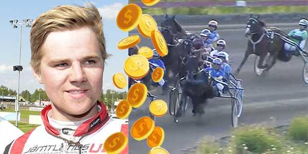 Mats E Djuse tillsammans med Järvsö Bukefalos är ett miljondrag på GS75.
