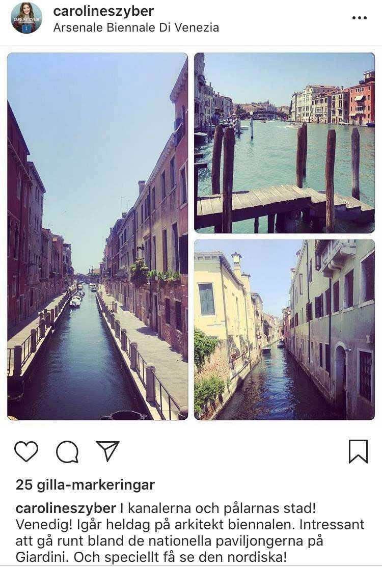 När Szyber åkte till Venedig följde familjen med. Men istället för att göra avdrag för familjens boendekostnader lät Szyber skattebetalarna stå för allt.