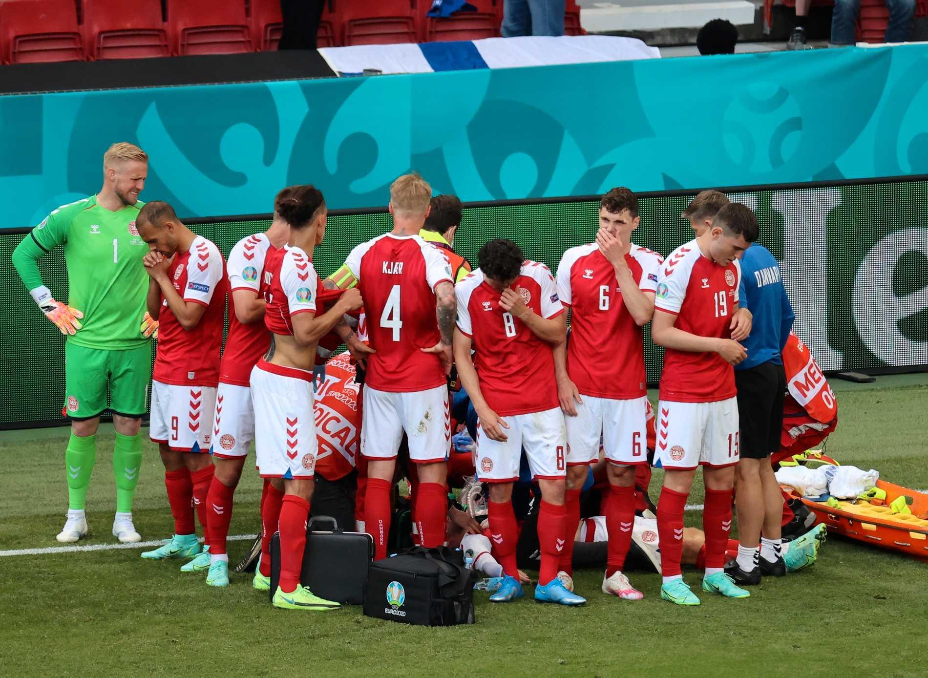 Christian Eriksen kollapsade i matchen mot Finland.