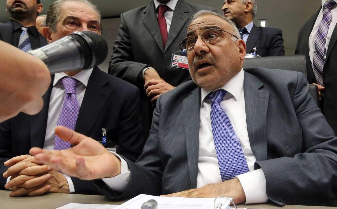 Iraks premiärminister Adil Abd al-Mahdi. Bilden är tagen vid tiden då han var oljeminister. Arkivbild.