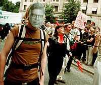 Alf Svensson var populär under Pride-festivalen.