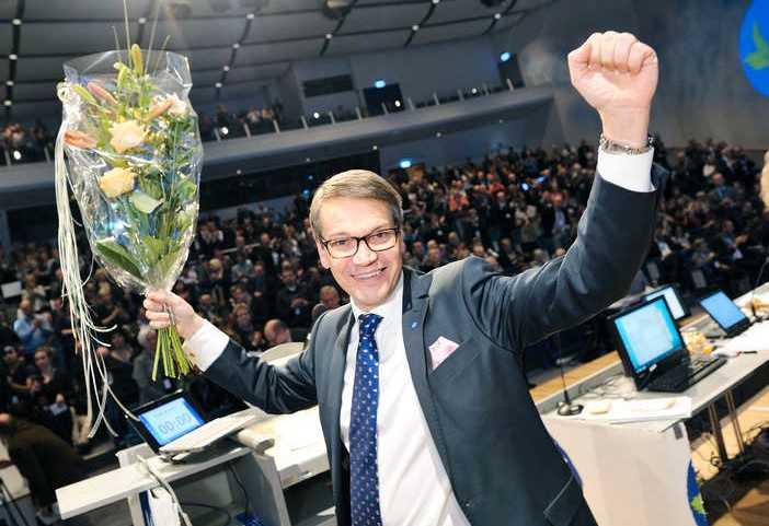 Så här glad var Göran Hägglund över valresultatet.