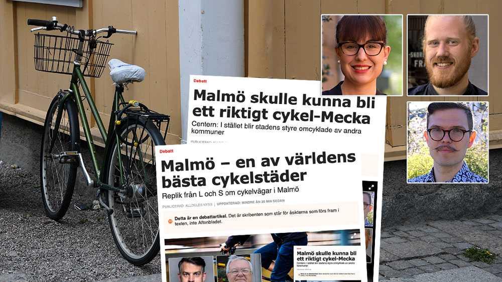 Vi är glada att man tror att Malmö är en cykelstad i världsklass, det är ett rykte vi gärna lever upp till. Men då krävs mer handlingskraft med fokus på de säkra, smidiga och bekväma cykelbanor, skriver Charlotte Bossen, Martin Molin och Max Gnipping (C).