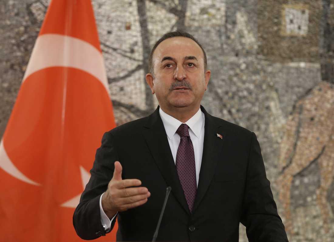 Turkiets utrikesminister Mevlüt Cavusoglu. Arkivbild.