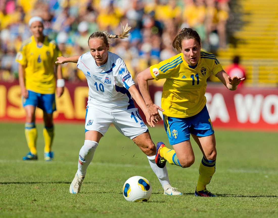Antonia Göransson under EM 2013. Nu är det slutspelat för den offensiva mittfältaren. Arkivbild.