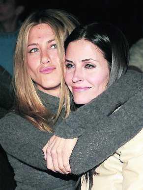 Jennifer Aniston och Courtney Cox.