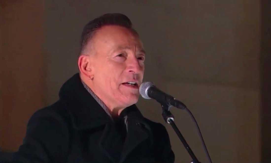 Bruce Springsteen framträdde i samband med att Joe Biden svors in som USA:s president.