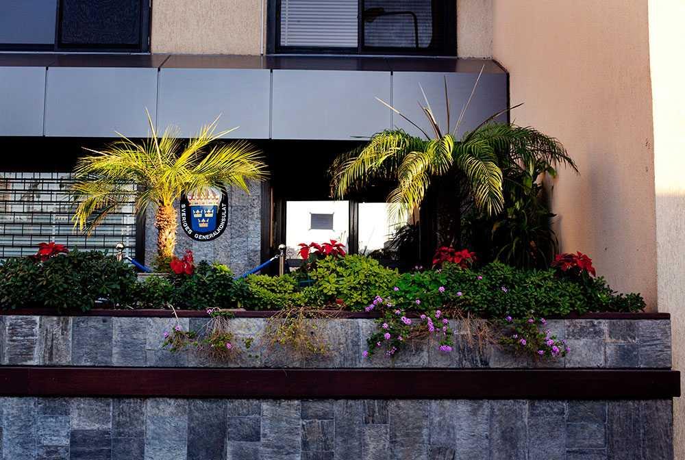 Svenska konsulatet i Beirut där de båda frisläppta svenska journalisterna befinner sig just nu