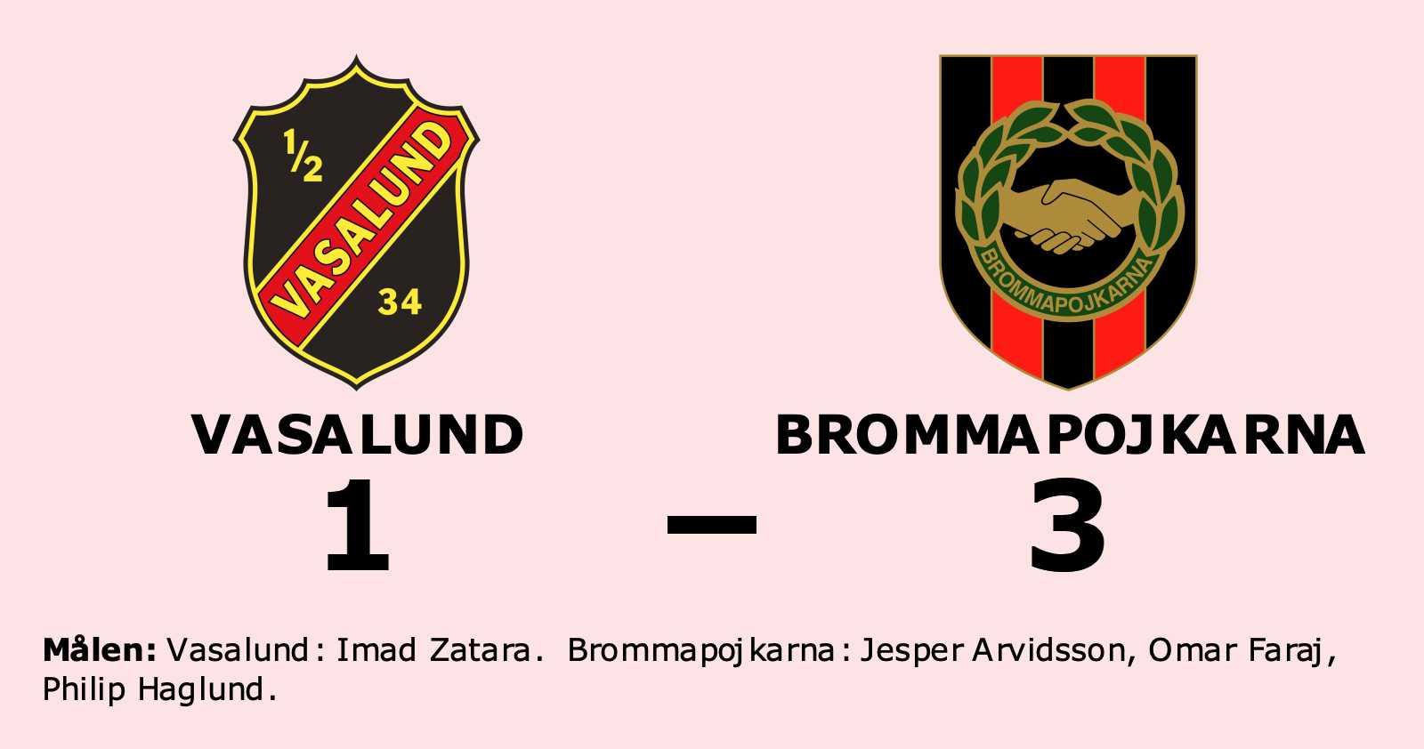 Brommapojkarna kvalklart efter seger mot Vasalund