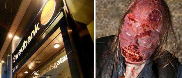 En zombie kan vara stötande för den stora allmänheten, menar en bankman.