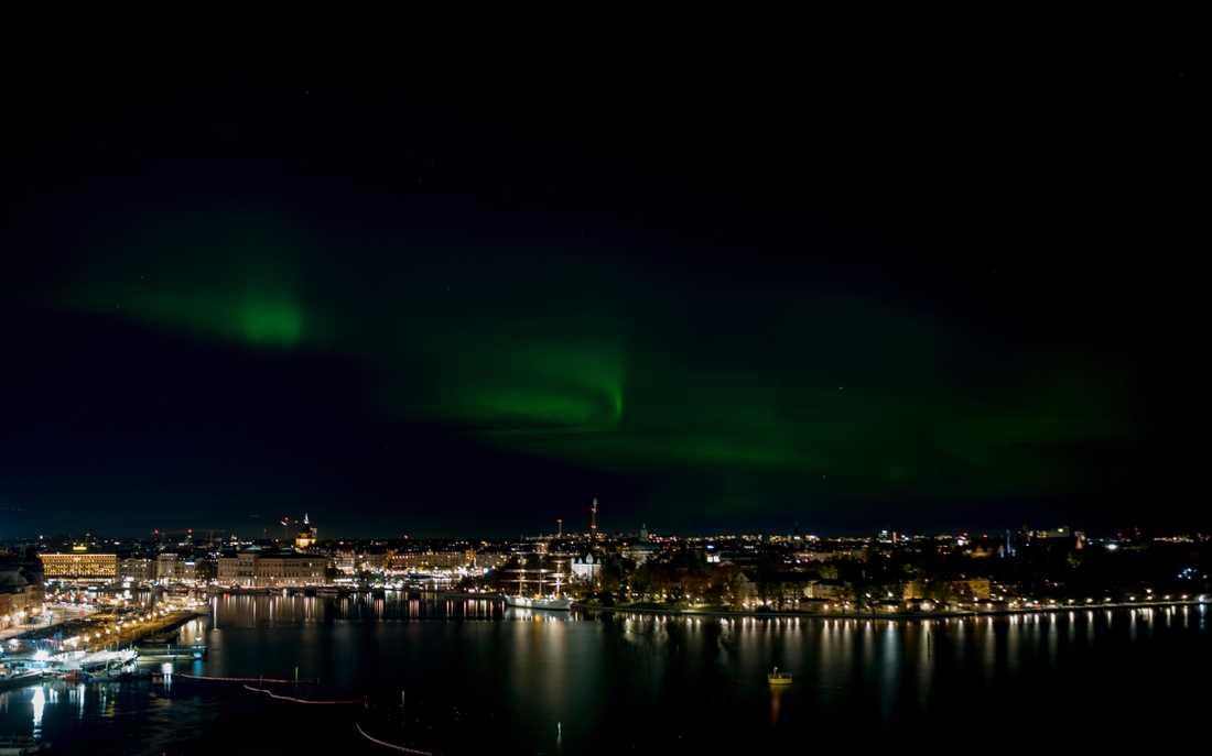 Norrsken över central Stockholm i oktober i fjol. Arkivbild.