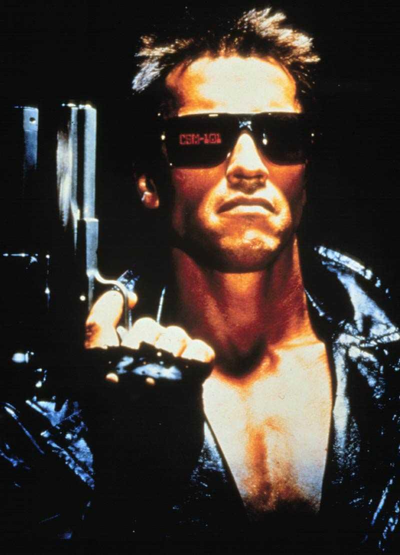 "Arnold Schwarzenegger i ""Terminator""."