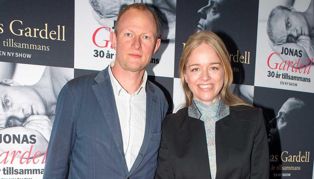 Ebba Kleberg von Sydow tillsammans med maken Johan Kleberg.