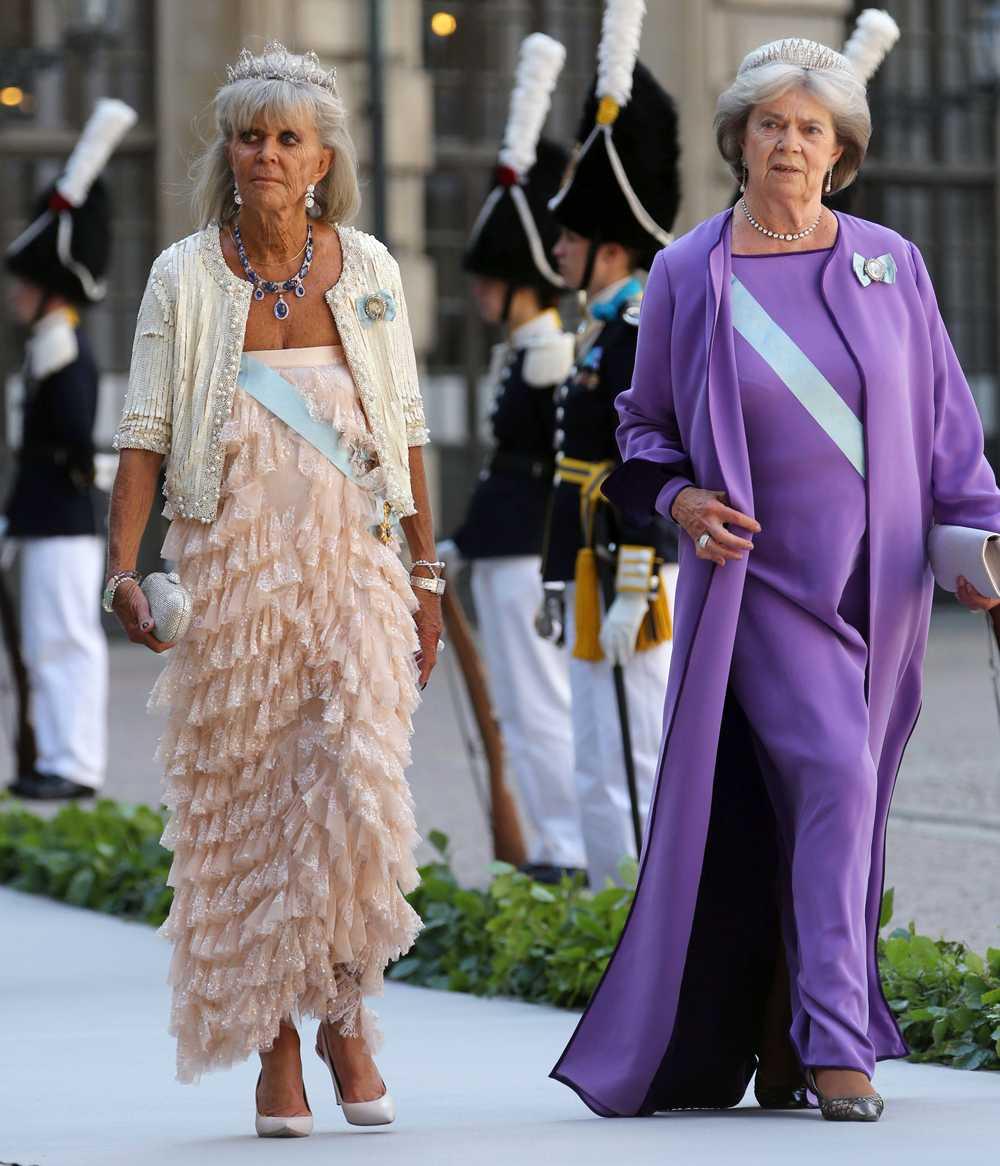 Prinsessan Birgitta och prinsessan Margaretha var självklara gäster på prinsessan Madeleines bröllop i juni förra året.