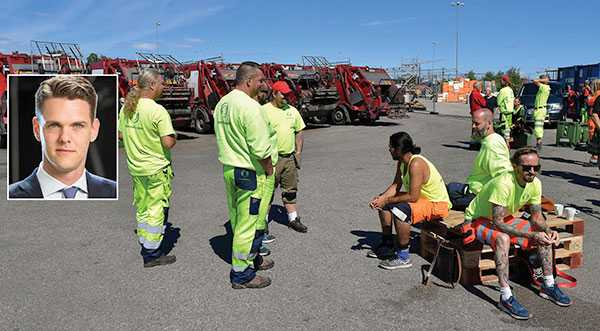 Precis som konflikten i Göteborgs hamn är förmår inte Transportarbetareförbundet hålla ordning på arbetsplatsen, trots att man har tecknat kollektivavtal, skriver debattören.