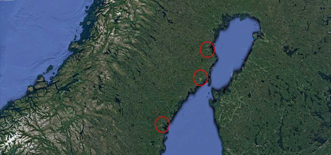 Rififikupper har skett i Sundsvall, Skellefteå och Umeå.